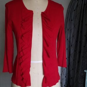 Chaps cascade front cardigan